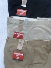 DOCKERS Mens Pants D3 Classic Easy FIT  Khaki Flat Front Cotton NWT $60