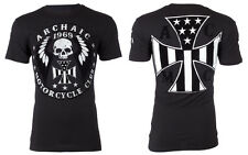 Archaic AFFLICTION Mens American T-Shirt MOTOR Customs Fighter Biker M-3XL $40 a
