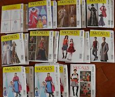 ALL NEW McCall's Costume Pattern Adult Kids Winter~Princess~Queen~Cape~Steampunk