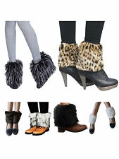 Winter Faux Fur Lower Leg Warmer Ankle Boot Sleeves Shoe Cover Legging Muffs