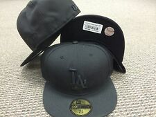 NEW ERA 5950 Los Angeles LA Dodgers black on black tonal Fitted HAT CAP 59fifty