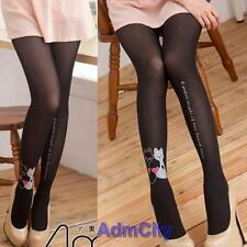 Cat Kitten Tattoo Patterned Spandex Pantyhose Tights Stockings Cosplay Black