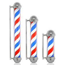 Famous Old Style Barber Shop Pole Red White Blue Rotating Strips Hair Salon Sign