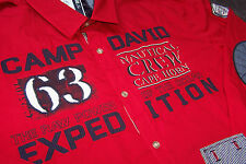 "Camp David Hemd  "" CAPE HORN IV ""  Royal Red   Herbst 2014!!  TOP AKTUELL !!!"