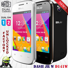 "BLU Dash Jr W 3.5"" Dual Sim Factory Unlocked Android GSM Smart Phone D141W"