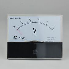 New Analog Voltmeter Voltage Meter 5VDC 15VDC 20VDC 30VDC 50VDC 300VDC