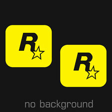2 x ROCKSTAR GAMES Sticker Decal Vinyl Car Window Laptop video game  Truck GTA