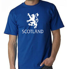 SCOTLAND Rampant Lion T Shirt Scottish flag/pride team soccer blue jersey
