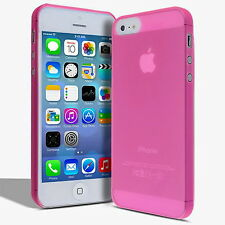 Apple iPhone 5 / 5s case Ultra Thin 0.3mm Matte Skin Cell Phone Hard Cover Pink