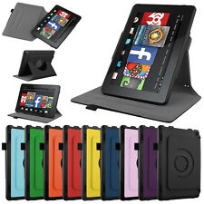 For 2014 Amazon Kindle Fire HD 7 inch Tablet Leather Folio Smart Fit Case Cover