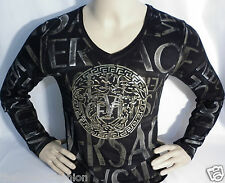 NWT Mens Black SEXY ;)) GOLD Sex IMPACT LONG SLV T Shirt-ea.d.g.ga.aj.aix-