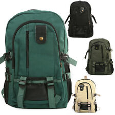 New Mens Vintage Canvas Backpack Rucksack School Satchel Hiking Bag Outdoor