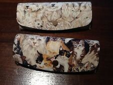Cat or Dog Design Cloth Covered Hard Metal Spectacle Glasses Case Cats Dogs