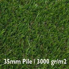Artificial Astro Grass 4m Wide Quality Fake Lawn Turf  35mm / 3000gr/m2 - £17 m2