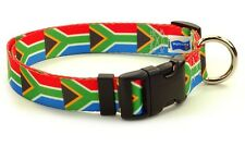 South Africa South African Flag Dog Pet Collar by PatriaPet