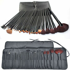 32PCS Goat Hair Makeup Brush Set Kit  Full Set  Cosmetic Tool Soft Bags Case