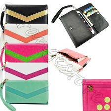 caseen Luxury Flip Wallet Leather Pouch Purse Case Cover for Smart Phone Phablet