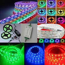 1-20M RGB 5050 waterproof 300 LED Light Strip Flexible / IR Remote /12V power