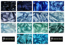 Satin Ribbon Double Sided Berisfords Blue Shades Choice Widths 3501