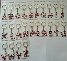 UNION JACK ALPHABET KEY RINGS WITH COMPLETE LETTERS