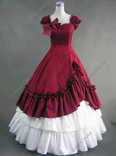 Southern Belle Civil War Gown Period Dress Reenactment Theatre Clothing 208 Red