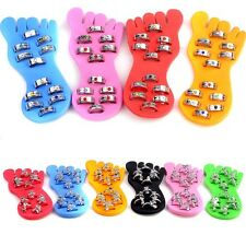12pcs Wholesale Jewelry Lots Silver P Crystal Bell Foot Toe Rings W Display Pad