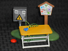 Campground Mini: CHOOSE RV Hookup Box/Folding Table/Hiking Trail Sign--PLAYMOBIL