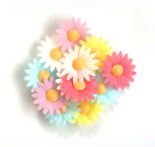 Edible Wafer Daisies Flowers For Cupcake Toppers And Cake Decorations