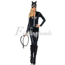 Women Fancy Dress Anime Catwoman Costume Adult Sexy Cat Gothic Cosplay M/L