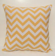 Yellow & White zig zag/ chevron cushion cover 45cm x 45cm