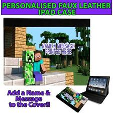 PERSONALISED CREEPER STEVE CRAFT UNOFFICAL GAMER IPAD, MINI, AIR CASE GIFT ST435
