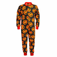 Official Manchester United All In One Onesie Pjs Boys Girls Kids Football Club B