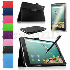 PU Leather Folio Smart Case Cover For HTC & Google Nexus 9 8.9-inch + Pen + Film