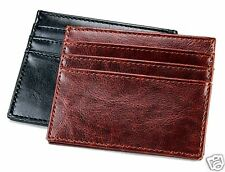 New Mens Slim Thin High Quality Leather Id Mini Wallet License 7 Card Holder C6