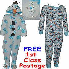Disney Frozen Kids OLAF Childrens Onesie Sleepsuit Pyjamas Allinone Primark BNWT