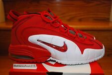 NIKE AIR MAX PENNY 1 UNIVERSITY RED WHITE 685153-600 New GS & Men's Sz:4y-15