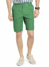 Izod saltwater flat front solid shorts cotton men's size 30 32 34 36, 38, 40 NEW