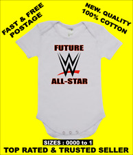 BABY ONE PIECE ROMPER ONESIE printed with FUTURE WWE ALL-STAR on baby body suit