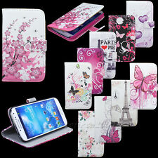 PU Leather Flower Stand Pouch Wallet Case Cover For Samsung Galaxy S4 SIV i9500
