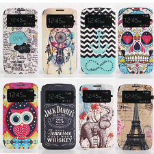 Flip New View Window Leather Card Stand Wallet Cover Case For Samsung Galaxy S4