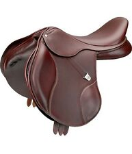 "Bates Elevation DS+ English Saddle with CAIR (16.5"",17"",17.5"") Havana Brown"