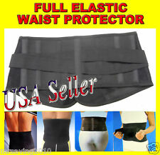 Elastic WRAP Pad Sports Waist Support Protector Black