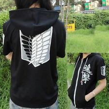 Black Anime Attack on Titan Cosplay Hoodie Scouting Legion Hooded Sweater Fleece
