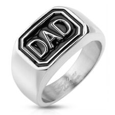 "316L Stainless Steel Men's ""DAD"" Casted Ring Size 9-13"