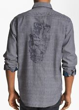 ROBERT GRAHAM Crowne LIMITED EDITION Shirt w/ Skull & Top Hat Embroidery M NWT