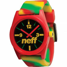 Neff Time Daily Wild Rasta Swirl Watch Water Resistant & Silicone Band