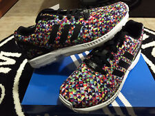 Adidas ZX Flux Multicolor Prism Sz 8-13 Rainbow Multi Color Runner Floral Galaxy