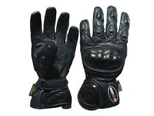 Motorcycle Motorbike Carbon Kevlar Leather Racing Winter Gloves