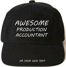 AWESOME PRODUCTION ACCOUNTANT PERSONALISED BASEBALL CAP HAT XMAS GIFT