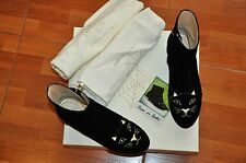 Authentic New Women's CHARLOTTE OLYMPIA Kitty Black Velvet Ankle Boots